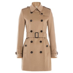 Virgin Wool Trench Coat with Cashmere  from BURBERRY LONDON