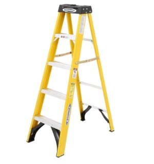 $27.98Werner 5 ft. Fiberglass Step Ladder with 225 lb. Load Capacity Type II Duty Rating