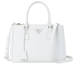 Galleria Double Zip Small Saffiano Leather Tote by Prada