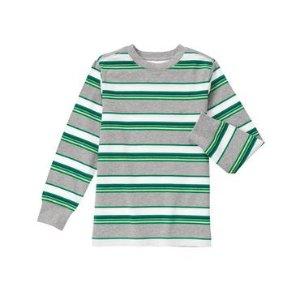 Boys Grass Green Stripe Striped Tee by Gymboree