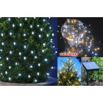 Christmas Lights, LightsEtc 39ft 100 LED Solar String Lights White Fairy Starry Outdoor Lighting for Gardens Homes Christmas Party Decoration