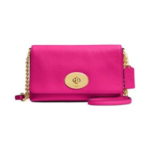 COACH Crosstown Crossbody in Polished Pebble Leather - Handbags & Accessories - Macy's