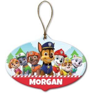 Personalized Paw Patrol Holiday Pups Ornament - Walmart.com
