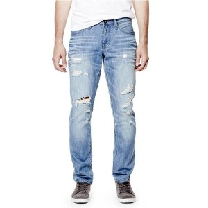 Errol Tapered Destroyed Jeans | GuessFactory.com