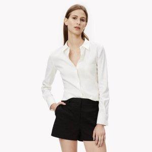 Stretch Linen Slim Shirt