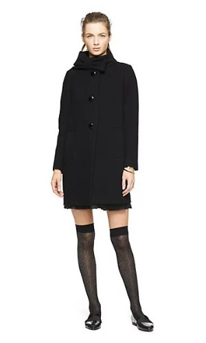 Bow Neck Wool Coat