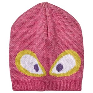 Fendi Pink and Grey Monster Eye Beanie Hat | AlexandAlexa