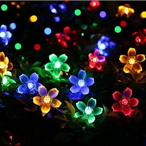 From $6.39 Qedertek Fairy Blossom Flower Solar String Lights, 21ft 50 LED Christmas Lights