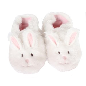 White Fuzzy Bunny Baby, Infant, Toddler Shoes | Robeez