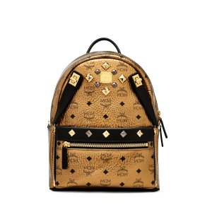 Small Dual Stark Backpack in Gold by MCM