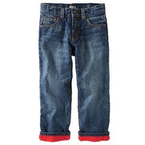 Kid Boy Fleece-Lined Jeans | OshKosh.com