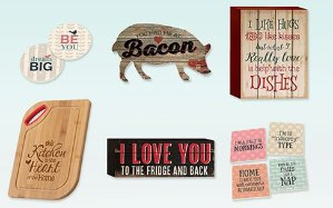 Up to 41% Off Whimsical Kitchen: Cutting Boards, Coasters & Art @ Hautelook