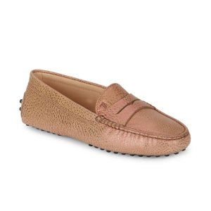 Tod's - Gommini Textured Leather Moccasins - saksoff5th.com