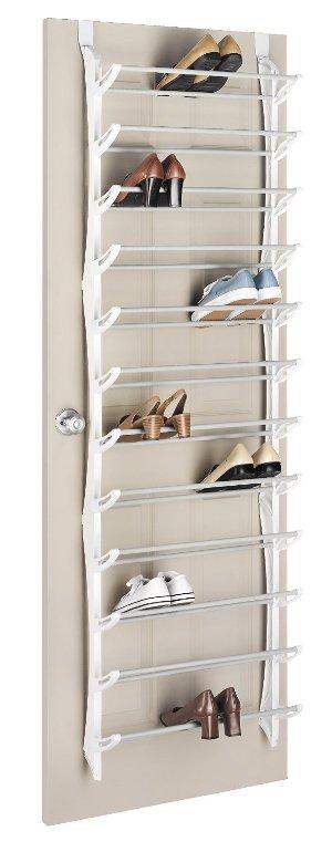 $18.84 Whitmor Over-The-Door Shoe Rack, 36-Pair, White