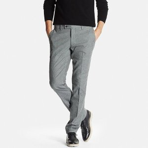 MEN HEATTECH STRETCH SLIM FIT FLAT FRONT PANTS