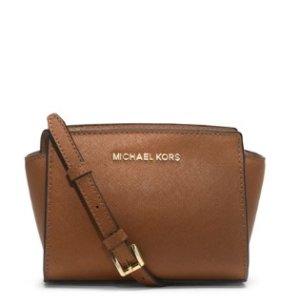 MICHAEL Michael Kors Selma Mini Messenger Bag, Luggage