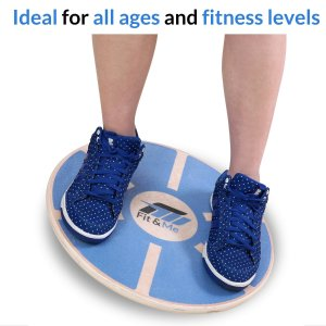 Fit&Me Wooden Wobble Balance Board - Video Exercises Included