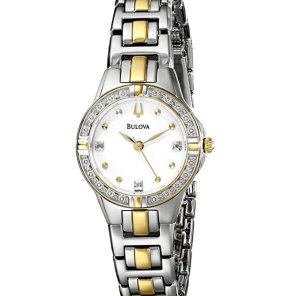 Lowest price! Bulova Women's Diamond Case Watch 98R166