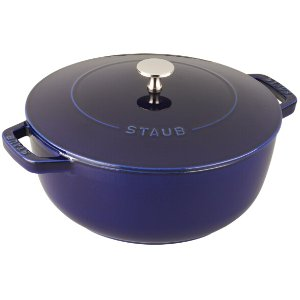 Staub Cast Iron 4-qt Essential French Oven - Visual Imperfections - Dark Blue
