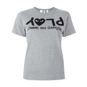 Comme Des Garçons Play Logo Print T-shirt - Farfetch