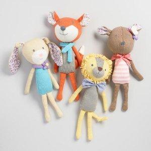 Floral Knit Plush Stuffed Animal Collection   World Market
