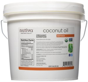 $17.8 Nutiva Organic Coconut Oil, Refined, 1 Gallon