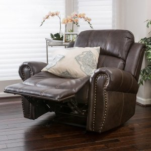 Charlie Bonded Leather Glider Recliner Club Chair by Christopher Knight Home - Free Shipping Today - Overstock.com - 17944226