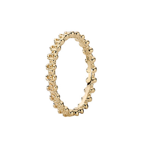 Rue La La — PANDORA 14K Gold Flower Stack Ring