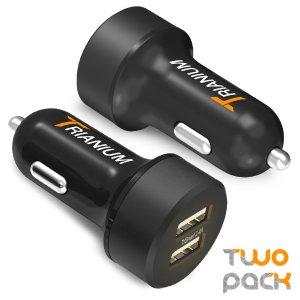 $11.60(原价$22.99)闪购!Trianium双USB车载充电器24W/4.8A (2只装)