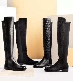 Up to $500 Gift CardStuart Weitzman 50/50 Suede Stretch Over-The-Knee Boot
