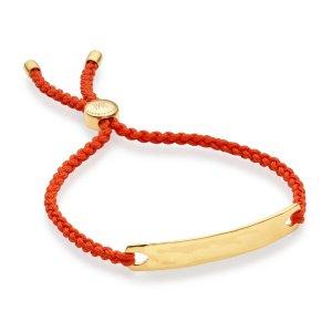 Gold Havana Friendship Bracelet- Poppy Red for Luck