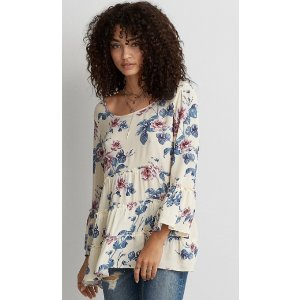 AEO TIERED TUNIC SHIRT