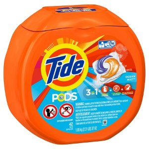 Tide 3 in 1 Ocean Mist Laundry Detergent Pods - 42 Count : Target