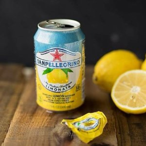 $9.37 San Pellegrino Sparkling Fruit Beverages, Limonata/Lemon 11.15-ounce cans (Total of 24)