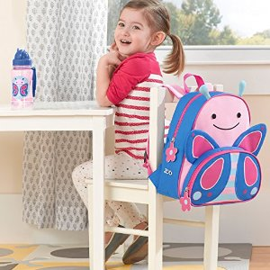 Skip Hop Zoo Little Kid and Toddler Backpack, Ages 2+, Multi Blossom Butterfly