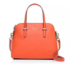 One Day Only! 50% Off Cedar Street Collection in Bright Papaya color Handbags @ kate spade