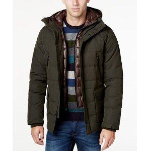MICHAEL Michael Kors Big & Tall Hooded Puffer Coat with Attached Bib - Coats & Jackets - Men - Macy's