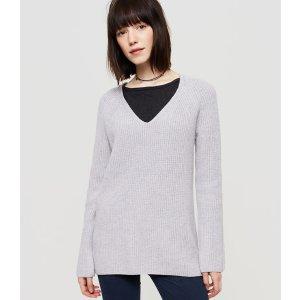 Lou & Grey Ribbed Tunic Sweater | LOFT
