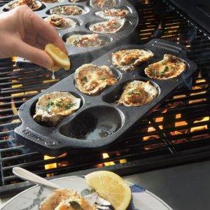 Sur La Table Cast Iron Oyster Grill Pan, 6 Cavity | Sur La Table