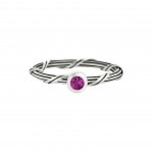 Ribbon and Reed Signature Romance Ruby Ring in sterling silver