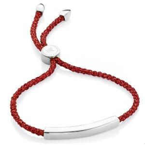 Linear Friendship Bracelet in Sterling Silver