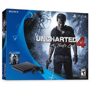 Sony PlayStation 4 Slim Uncharted 4 500GB Bundle