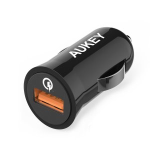 Aukey Quick Charge 2.0 18W USB Car Charger + 3.3' Micro USB Cable