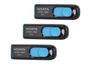 3 x ADATA DashDrive UV128 8GB USB 3.0 Flash Drive