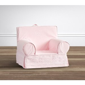 Light Pink Eyelet Anywhere Chair® | Pottery Barn Kids