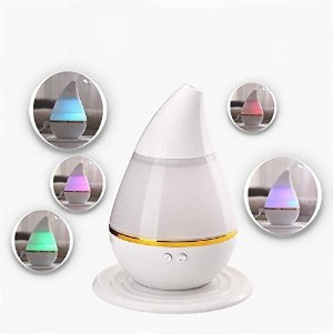 250ml Ultrasonic aroma diffuser Cool Mist Air Humidifier with 7 Color LED Lights Changing and Waterless Auto Shut-off Function Timing function for Home Office Bedroom Room