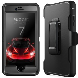 Free! Timga iPhone Rugged Case w/ Holster + Glass Screen Protector