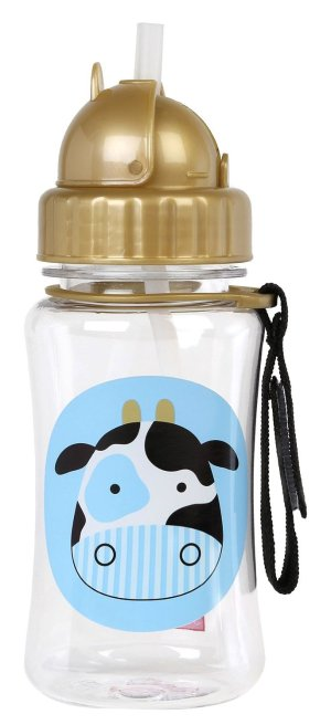 Skip Hop Zoo Straw Bottle, Cow