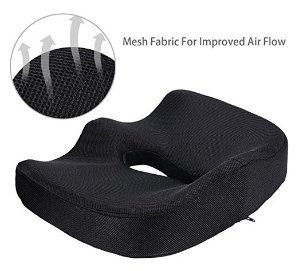 Seat Cushion,Comfort Memory Foam Seat Cushion Chair Seat Cusion for Back Tailbone Sciatica Pain Relief