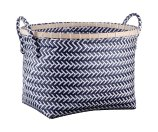 Room Essentials™ Medium Oval Woven Bin - Navy and White Pattern : Target